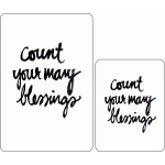 count your blessings journaling card