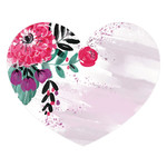 painted floral heart