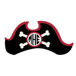 pirate hat monogram frame