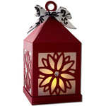 poinsettia hanging tea light lantern