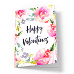 happy valentines day card with roses