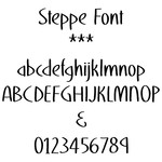 steppe font