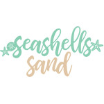 seashells & sand words