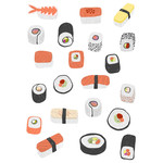 sushi roll japanese food stickers