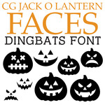 cg jack o'lantern faces dingbats