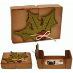 3d holly gift card box