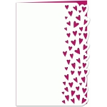tiny hearts lace edged 7x5 card