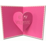 be my valentine pop-up card