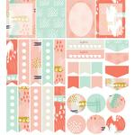 abstract planner stickers: blush pink set