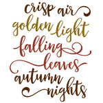 crisp air golden light phrase