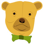 scruffy bear: yellow