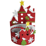 christmas birdie village bendi card
