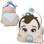 crawling baby boy pacifier basket