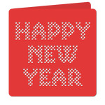 'happy new year' lattice cut out card