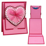 heart z fold gift card holder card