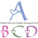 simple heart you capitals monogram