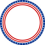 independence day flag circle frame