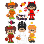 trick or treating girl stickers