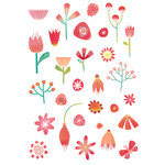 celebration flower stickers