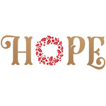 hope christmas holiday wreath wording