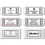 sentiments- greetings tickets set
