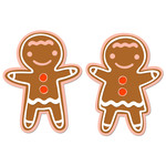 gingerbread boy and girl layered