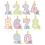 striped candle numbers