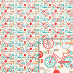 summer bicycle background paper