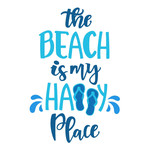 the beach is my happy place phrase