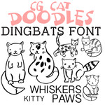 cg cat doodles dingbats