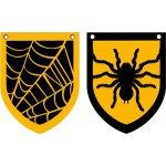 spider & web banner flags