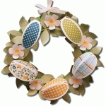 3d paper egg wreath