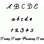 fancy finger painting font