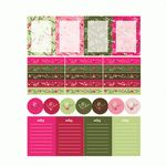 christmas berries planner sticker flags