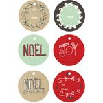 holiday tidings round gift tags
