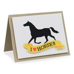 i love horses folded card