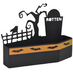 halloween coffin graveyard treat box
