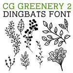 cg greenery 2 dingbats