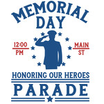 memorial day parade sign