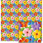 big, colorful floral pattern