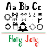 holly jolly monogram font