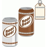 soda and tag set: root beer