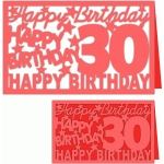 happy birthday 30 years card