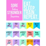 motivational workout flags & stickers