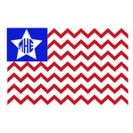 us chevron flag monogram frame