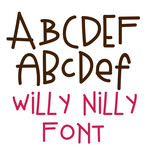 willy nilly font