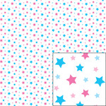 blue and pink star pattern