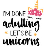 done adulting unicorns