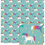 unicorn pattern on aqua