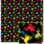 colorful frog pattern